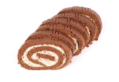 Biscuit roulé à la crème de marrons