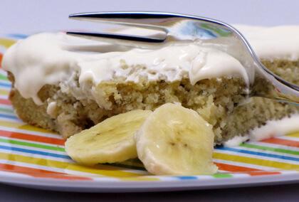 Cake à la banane et aux raisins