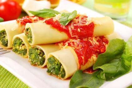 Cannellonis à la florentine