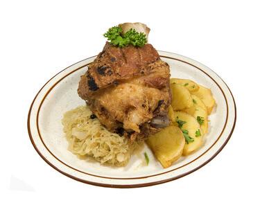 Jarret de porc au chou rouge et au fromage blanc