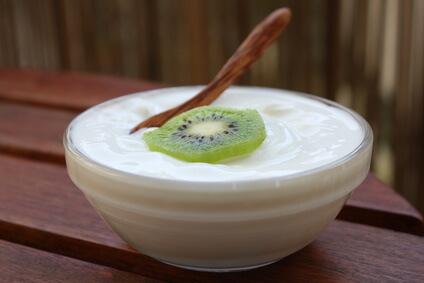 Kiwis aux pommes et fromage blanc