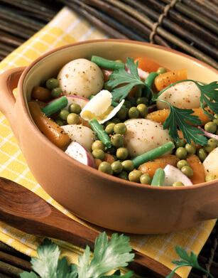 Légumes printaniers en cocotte