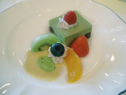 Mousse de fruits au kirsch