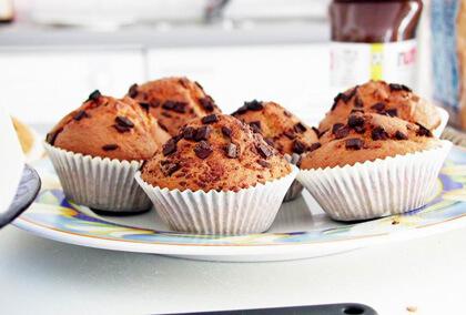 Muffins aux fruits et pépites