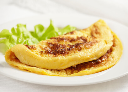 Omelette aux coques