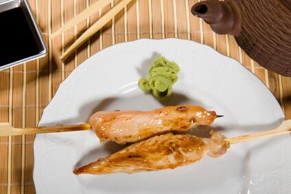 Poulet aux olives vertes et wasabi