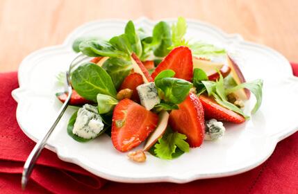 Salade de fraises et pommes
