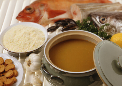 Soupe de poissons du bassin