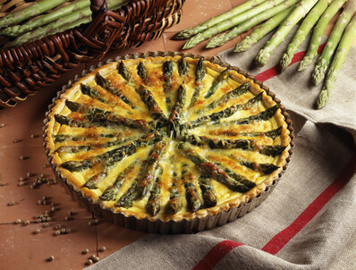 Tarte aux asperges blanches