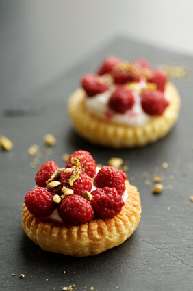 Tarte framboises et chantilly