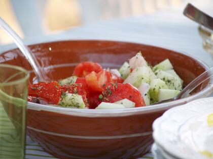 Tomates aux concombres