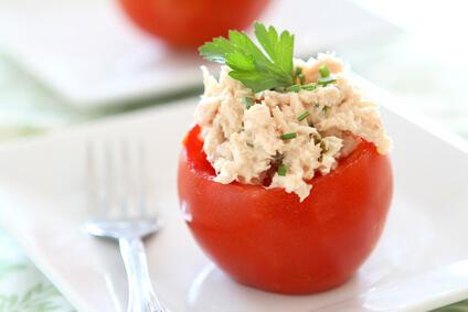 Tomates farcies au fromage de chèvre