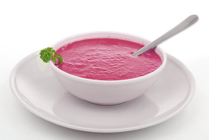 Potage de betteraves rouges